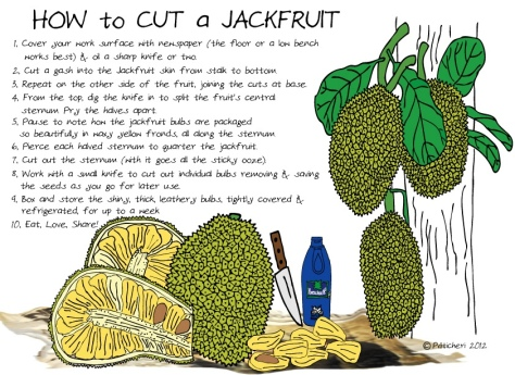 Jackfruit cut
