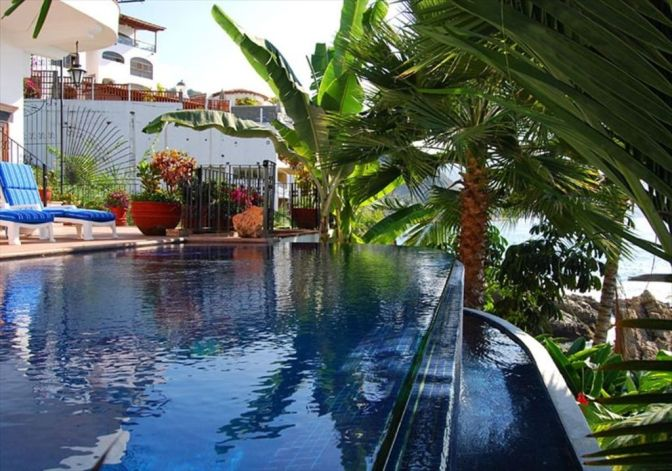Casa Carole – For Rent – Beachfront Conchas Chinas, Puerto Vallarta